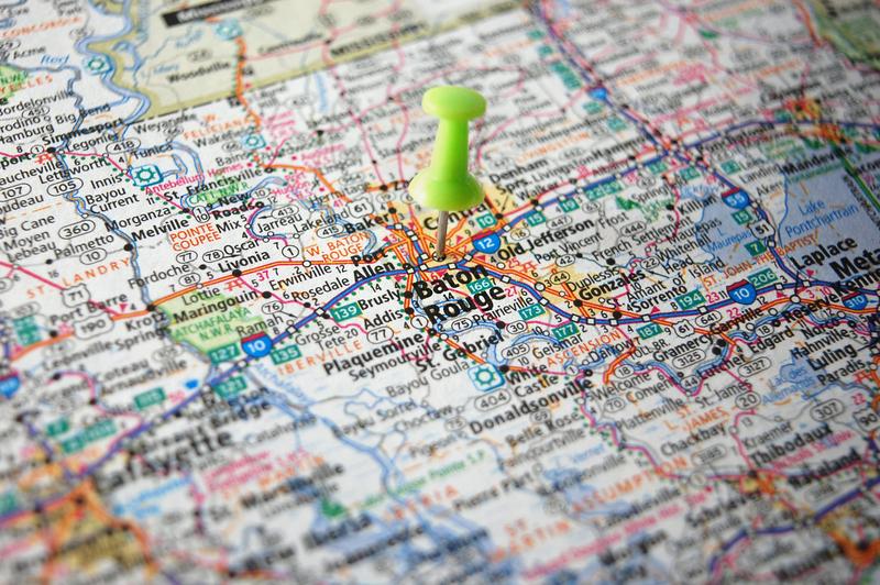 Baton Rouge LA City Map Porta Potty Rentals